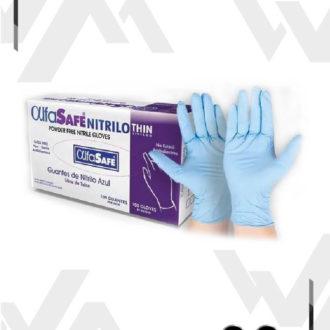 Guante de Nitrilo Para Examen – Alfa Safe Thin X 100 Unidades