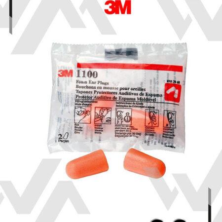 3M™ Tapones Auditivos 1100 sin Cuerda
