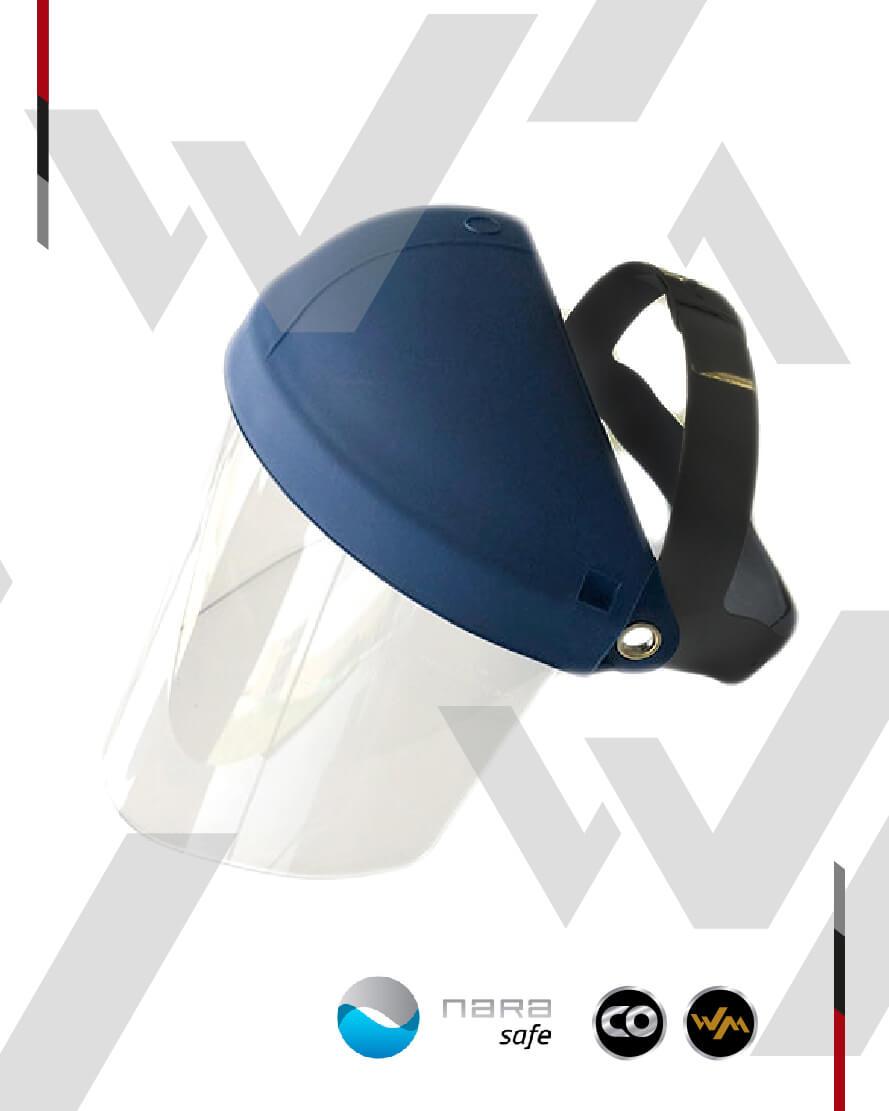 Careta Para Esmerilar Visor Rígido Nara blue (NARA SAFE)