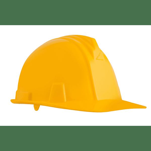 casco dielectrico con rachet de cuatro puntos de apoyo-amarillo