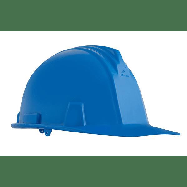casco dielectrico con rachet de cuatro puntos de apoyo-azul
