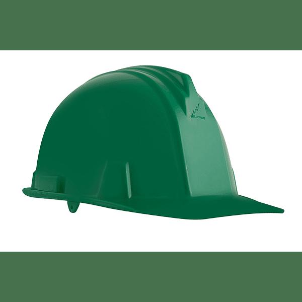 casco dielectrico con rachet de cuatro puntos de apoyo-verde