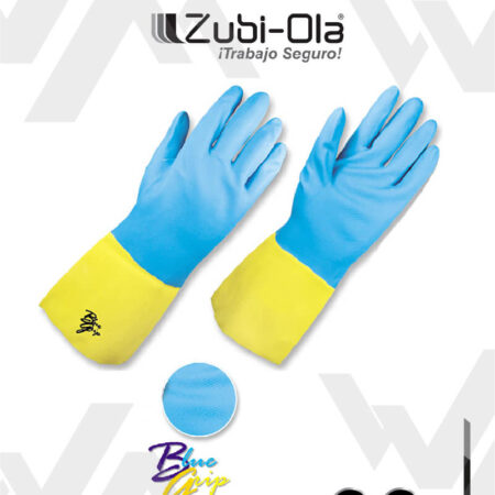"""Guantes de Neopreno Amarillo y Azul """"Blue Grip"""" Zubiola"""