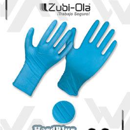"""Guantes Nitrilo Azul Calibre 8 Milésimas Caja X 50 unidades Zubiola """"HardBlur"""""""